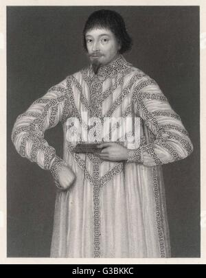 Sir JOHN ELIOT  Statesman and Parliamentarian  who opposed King Charles I and  was imprisoned in the Tower of  London - Stock Photo