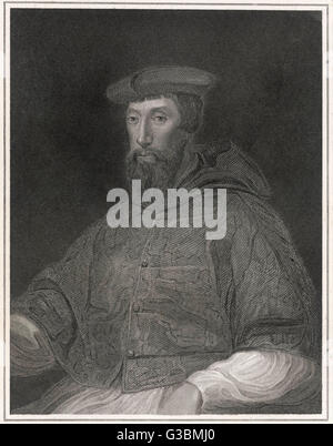 REGINALD POLE Cardinal and adviser to Queen  Mary I        Date: 1500 - 1588 - Stock Photo
