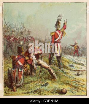 Sir John Moore, leading the  British against the French in  Spain, is killed at Corunna        Date: 17 January - Stock Photo