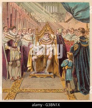 The Prince Regent, George IV,  is crowned king at Westminster  Abbey        Date: 1821 - Stock Photo