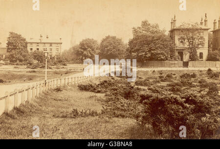 The entrance to St John's  Park, Blackheath London SE3         Date: late 19th century - Stock Photo