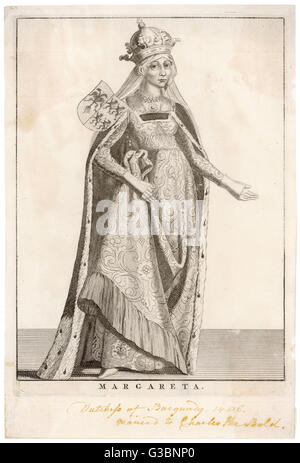 MARGARET OF YORK also known Margaret, duchess of Burgundy, sister of Edward IV and Richard III of England, third - Stock Photo