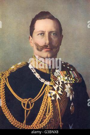 Kaiser Wilhelm II (1859 - 1941) -  German Emperor in 1906        Date: 1906 - Stock Photo