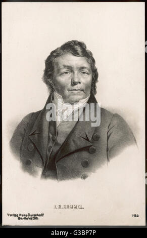 JOHANN NEPOMUK HUMMEL  German pianist and composer        Date: 1778 - 1837 - Stock Photo