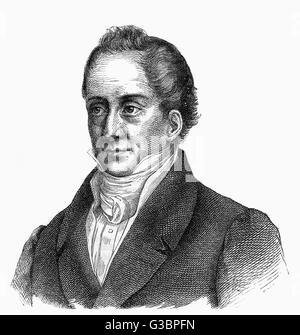 AUGUST WILHELM von SCHLEGEL German writer         Date: 1767 - 1845 - Stock Photo