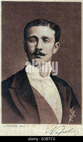 Louis Napoleon, the Prince Imperial of France (1856-1879), son of Napoleon III.      Date: circa 1880s - Stock Photo