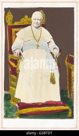 Pope Pius IX (1792-1878), born Giovanni Maria Mastai-Ferretti, head of the Roman Catholic Church from 1846 until - Stock Photo
