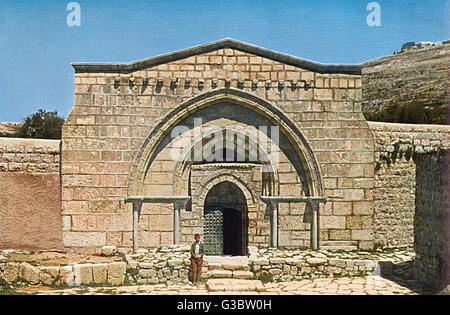 Tomb of the Virgin Mary (Church of the Sepulchre of Saint Mary), in the Kidron Valley, Jerusalem, built in the 12th - Stock Photo