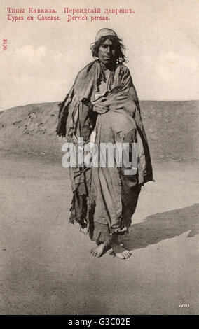 Persian Dervish in Chechnya.     Date: circa 1905 - Stock Photo