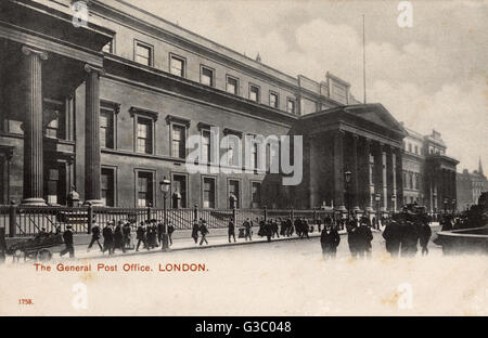 The UK's first ever purpose-built post office - The General Post Office, London.     Date: circa 1910s - Stock Photo