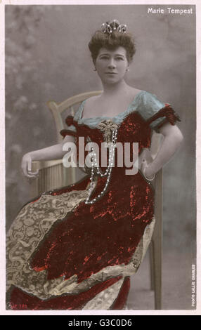 Marie Tempest (1864-1942) - famous British light soprano and later actress.     Date: 1910 - Stock Photo
