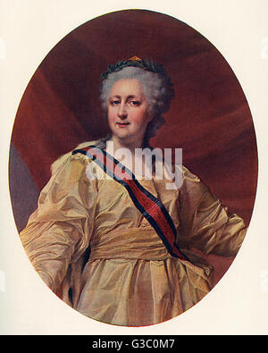Yekaterina Alexeevna or Catherine II, also known as Catherine the Great of Russia (1729-1796, reigned 1762-1796). - Stock Photo