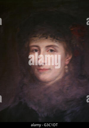 Cosima Wagner (Francesca Gaetana Cosima Liszt, 1837-1930), daughter of Franz Liszt, second wife of Richard Wagner. - Stock Photo