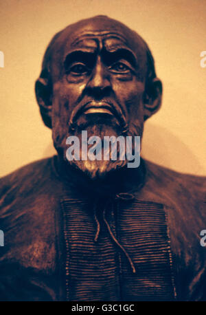 Head and shoulders bust of Ivan IV Vasilyevich, known as Ivan the Terrible (1530-1584, reigned 1534-1584). Reconstructed - Stock Photo