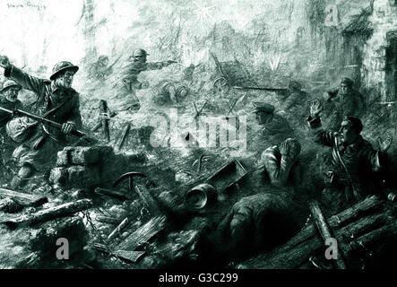 WW1 - Western Front - The Hindenbug Line (Siegfriedstellung), was a German defensive position of World War I, built - Stock Photo