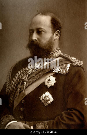Edward, Prince of Wales (1841-1910) - future King Edward VII (reigned 1901-1910).     Date: 1890 - Stock Photo