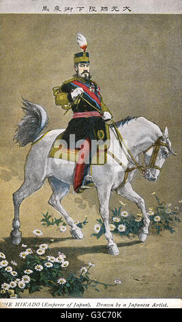 Mikado Emperor Meiji of Japan Emperor Meiji (18521912) (Meiji the Great) - the 122nd Emperor of Japan. Pictured - Stock Photo