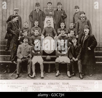 Millwall Athletic football team for the 1895-1896 season, including Chairman, Treasurer, Secretary and Trainer, - Stock Photo