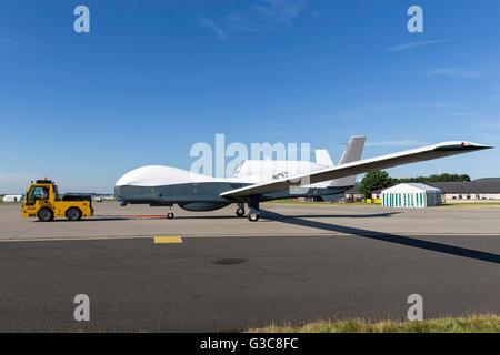 Northrop Grumman MQ-4C Triton U.S Navy unmanned broad area maritime surveillance aircraft - Stock Photo