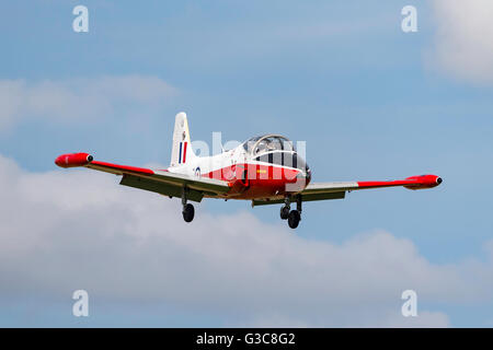 Former Royal Air Force (RAF) BAC Jet Provost T4 jet training aircraft G-BWSG - Stock Photo