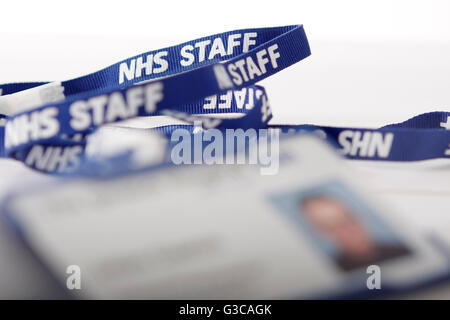 NHS staff employee badge - Stock Photo