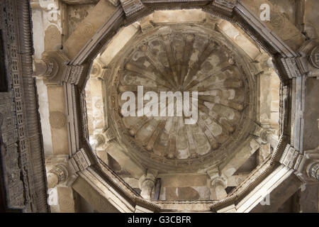Central dome ceiling. Jami Masjid. Champaner Pavagadh Archaeological Park. UNESCO World Heritage Site. Panchmahal, - Stock Photo