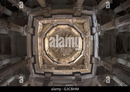 Dome view. Jami Masjid or Mosque. Champaner Pavagadh Archaeological Park. UNESCO World Heritage Site. Panchmahal, - Stock Photo