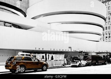 Solomon R. Guggenheim Museum, New York City, Upper East-Side, Manhattan, USA - Stock Photo