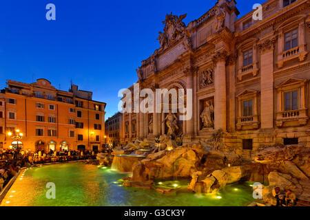 Rome, Latium, Italy, Fontana di Trevi - Stock Photo