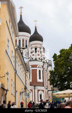 Alexander Nevsky Cathedral in Tallinn, - Stock Photo