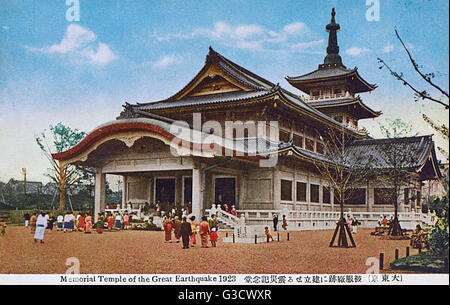 Memorial Temple of the Great Earthquake of 1923 - Tokyo, Japan. This earthquake devastated Tokyo, the port city - Stock Photo