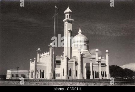 The Sultan Omar Ali Saifuddin Mosque is a royal Islamic mosque situated in Bandar Seri Begawan, the capital of the - Stock Photo