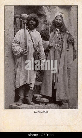 Persian Dervishes. Darwesh or Dervish, as it is known in European languages, refers to members of Sufi Muslim ascetic - Stock Photo