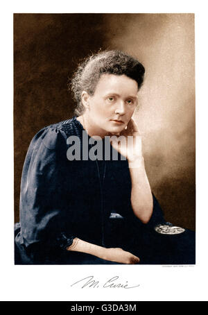 Marie Curie (1867-1934) - Polish Scientist, twice the recipient of the Nobel Prize for her pioneering research on - Stock Photo