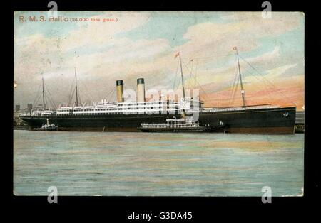 RMS Baltic, White Star cruise liner.      Date: circa 1900s - Stock Photo
