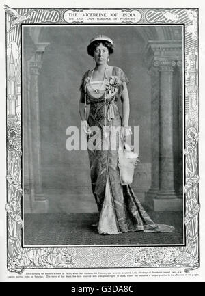 Lady Hardinge, Winifred Selina Sturt Hardinge (1868-1914), cousin and wife of Charles Hardinge, 1st Baron Hardinge - Stock Photo