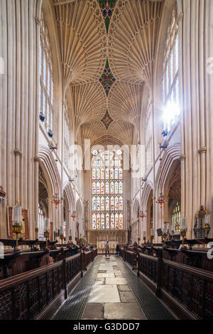 The Abbey Church of Saint Peter and Saint Paul, Bath, Somerset - Stock Photo