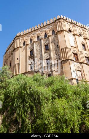Palazzo Dei Normanni, Piazza Indipendenza, Palermo, Sicily, Italy - Stock Photo