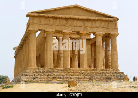 Temple of Concordia in Valley of the Temples (Valle dei Templi), Agrigento, Sicily, Italy - Stock Photo