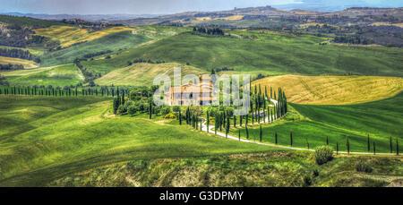 tuscany hills landscape crete senesi picture - Stock Photo