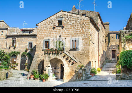 Bagnoregio italian village houses - Stock Photo