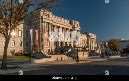 The Library of Congress ,Washington DC - Stock Photo