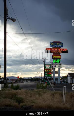 Truck stop in Green River, Utah, USA - Stock Photo