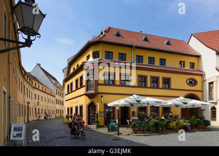Schlossstraße in old town, Germany, Sachsen, Saxony, , Torgau - Stock Photo