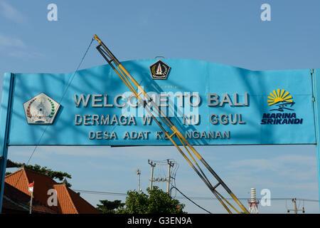 Welcome at bali stock photo 58235470 alamy welcome to bali sign jimbaran bali indonesia stock photo thecheapjerseys Gallery