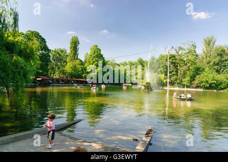 Cismigiu Park, Romania Bucharest Bucuresti - Stock Photo