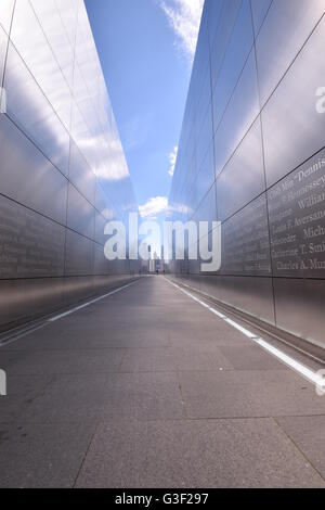 Empty Sky Memorial in Liberty State Park, New Jersey - Stock Photo