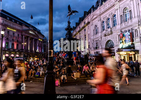 Piccadilly Circus is a road junction and public space of London's West End in the City of Westminster, London, England - Stock Photo