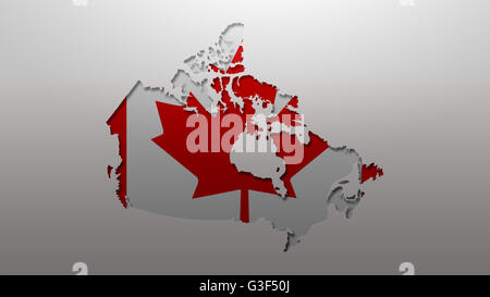 Canada Flag Outline Stock Photo Royalty Free Image - Canada map with flag