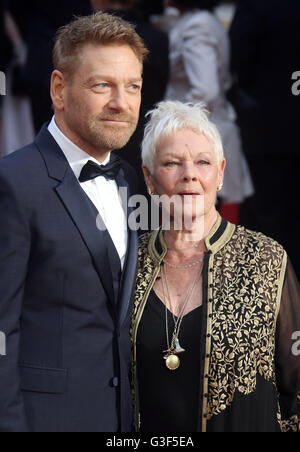 April 3, 2016 - Sir Kenneth Branagh and Dame Judi Dench attending The Olivier Awards 2016 at Royal Opera House, Covent Garden in